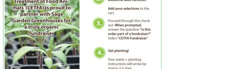 Grow your own organic food and flowers while supporting CETFA.