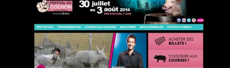 Cruel Entertainment: Quebec Pig Festival